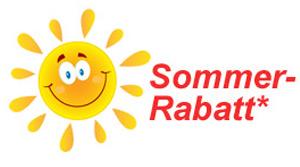 Sommer-Rabatt-Aktions-Sonne