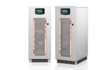 Ein Bild der Gehäusevorderseite der Sirio Power Supply (SPS) Speichersyteme von Riello Power Systems