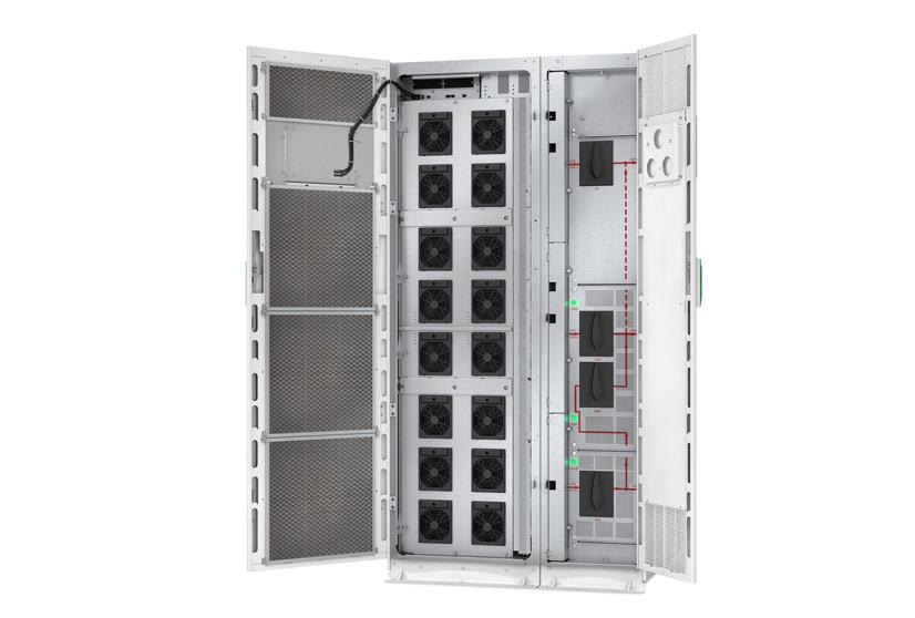 USV Serie Galaxy VM von Schneider Electric – APC – geöffnete Rückseite