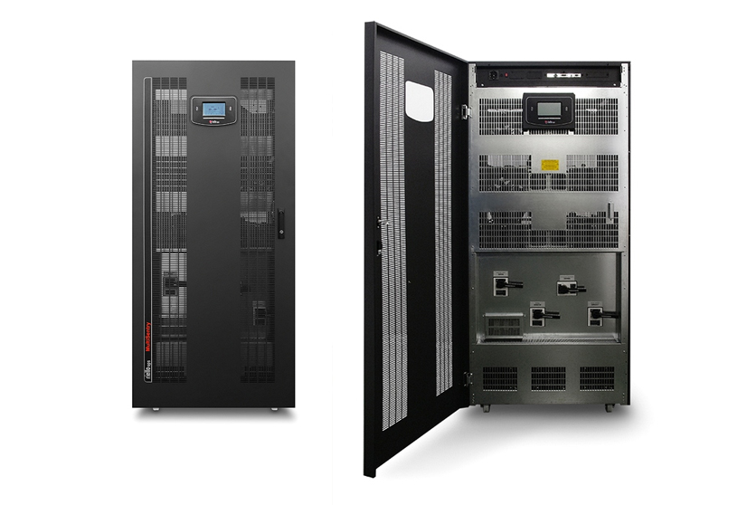 USV Serie Multi Sentry von Riello Power Systems offen und geschlossen