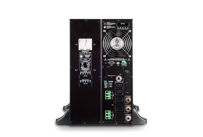 USV Sentinel Dual SDU von Riello Power Systems Rückseite
